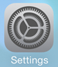 iPad iOS8 - Step 1 - Click Settings