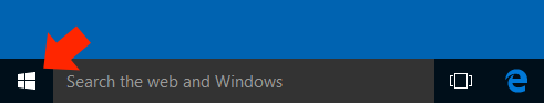 Windows 10 Mail App - Step 1 - Click on the Windows button